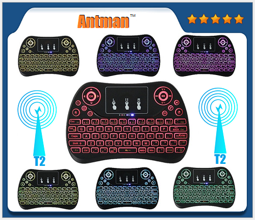 Mini Fly Air Mouse Keyboard T2 2.4G Wireless 3D Remote Sensing Air Mouse Gaming mouse gamer