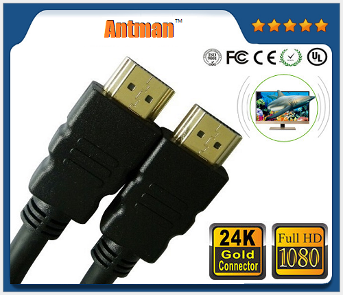 OEM Male to Male Gold Plated High Speed HDMI 1.4V Cable 2.0 Support 3D 4K and 2160P 1080P 1M 1.5M 2M 3M 5M 10M 15M 20M