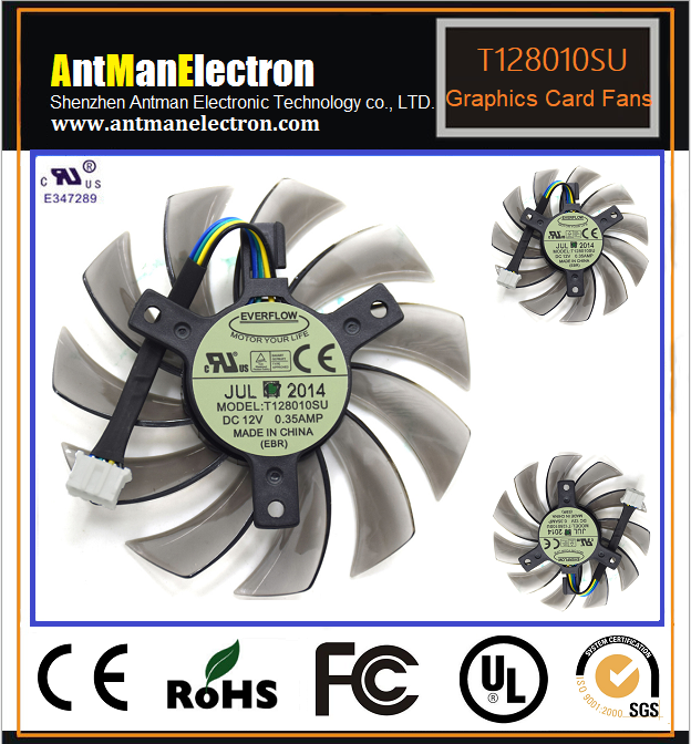 Graphic cooling fan T128010SU 0 35A DC12V graphics card