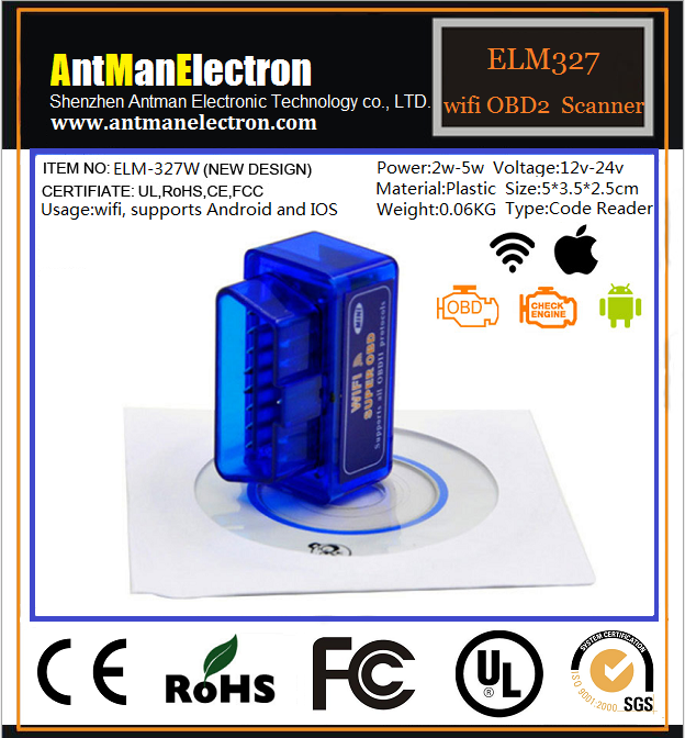 WIFI V1 5 OBD2 Scanner for Android iOS support all OBDII