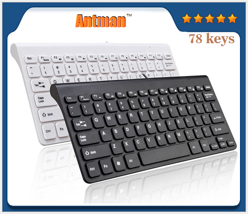 Hot Sale 78 KEYS Portable ABS Mini USB wired Keyboard
